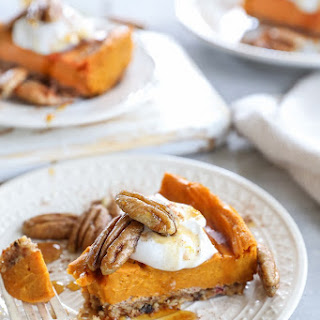 Vegan Bourbon-Orange Sweet Potato Pie.