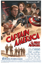 Photo: CAPTAIN AMERICA: THE FIRST AVENGER. 2011. Gouache and acrylic on illustration board, 16 × 24″.