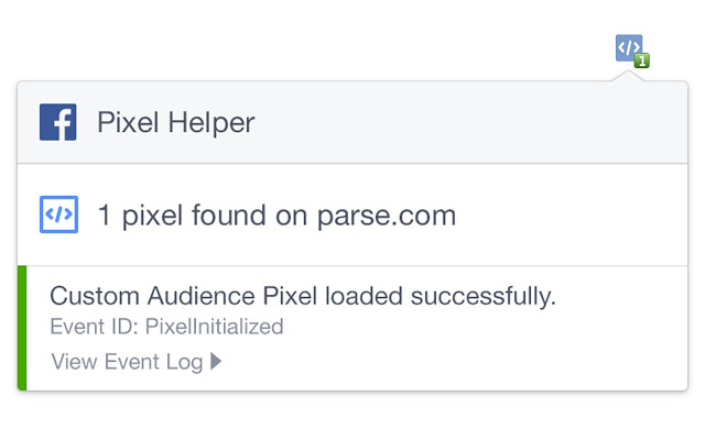 Rich results on Google's SERP when searching for 'facebook pixel helper'