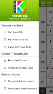 Kalender Bali 2018 - náhled