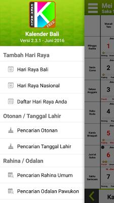 Kalender Bali - screenshot