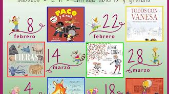 Calendario 1 potito x 1 cuentacuentos en Librerías Picasso con Queidea  y a favor del Banco de Alimentos de Almería.