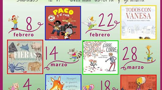 """Calendario de la Campaña """"1 Potito x 1 Cuentacuentos"""" en Librerías Picasso"""