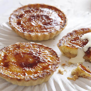 Caramel Cream Tartlets With Almond Pastry.