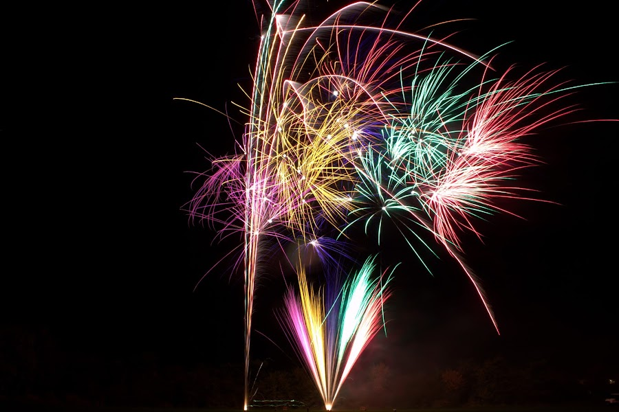 Fireworks by Michael Topley - Abstract Fire & Fireworks ( explosion, fireworks, bangs, night, evening, colours )