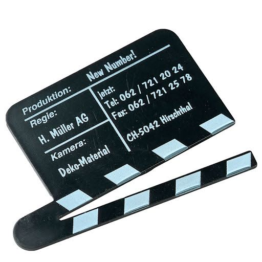 Fridge Magnet Mini Clapper Boards