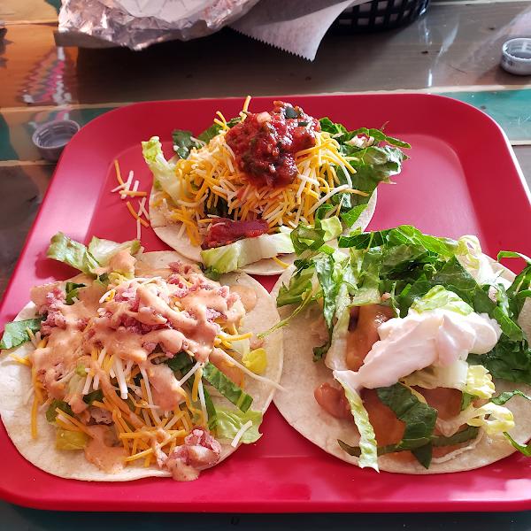 Taco sampler.... yum!