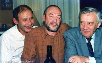Photo: Сороковины ВПН. Виктор Кондырев, Олег Целков, Владимир Максимов, Ванв, 12.10.1987
