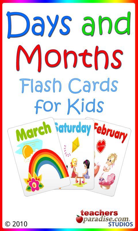 Скриншот Дни и месяцы Flashcards