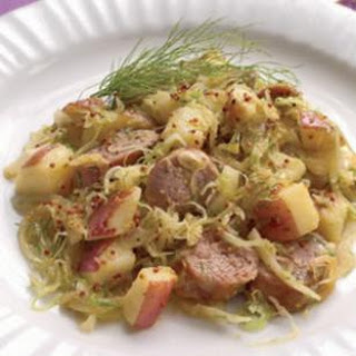 Fennel Sauerkraut with Turkey Sausage & Potatoes