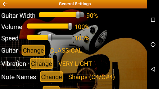 Guitar Scales & Chords Free Added Sustain option screenshots 8