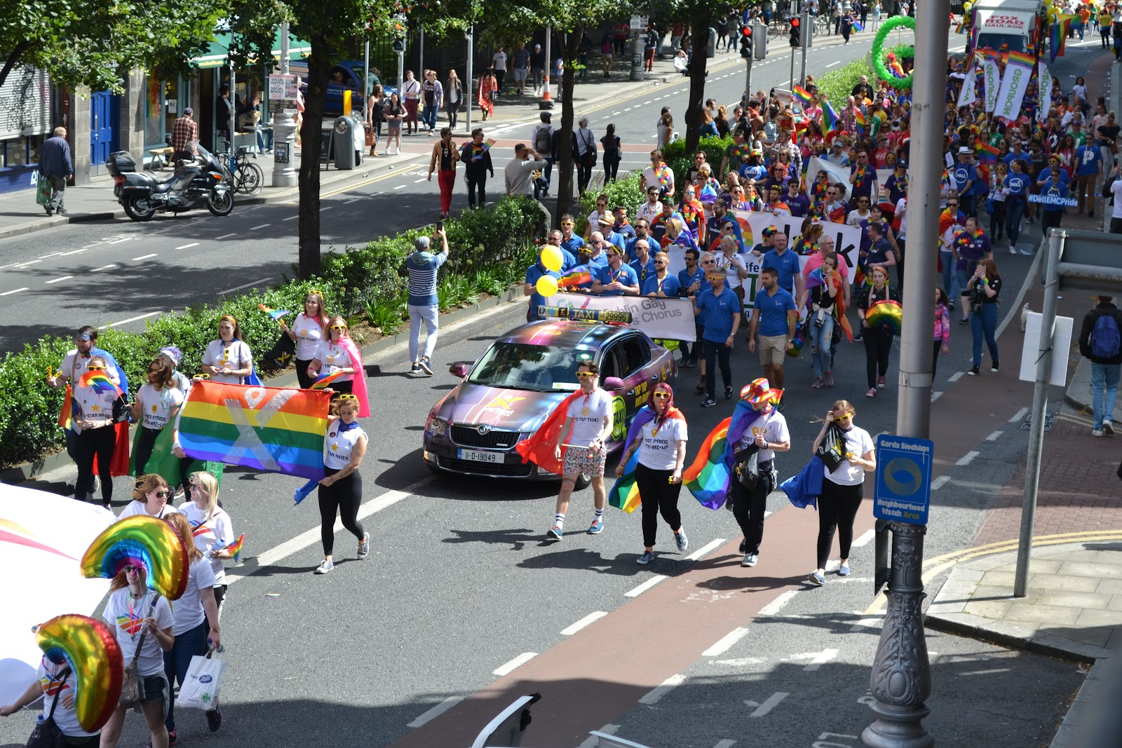 MyTaxi in Dublin Pride 2017