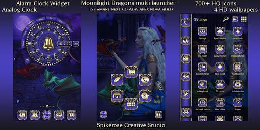 Download Moonlight Dragons TSF Next Smart Go multi Launcher MOD APK 1