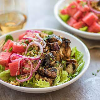 Watermelon Balsamic Chicken Salad.