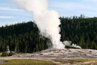 Photo: The famous Old Faithful geyser