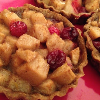 Pear Cranberry Gingerbread Tartlets