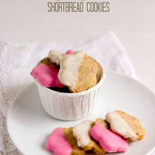 Chocolate Dipped Coconut Shortbread Cookies