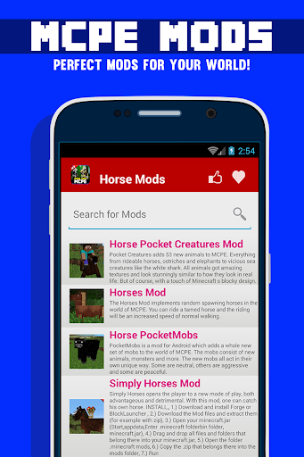 無料娱乐AppのMCPEために馬モッズ!|記事Game