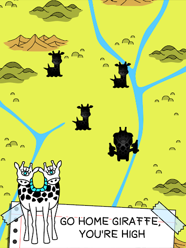 Giraffe Evolution - Mutant Giraffes Clicker Game - screenshot