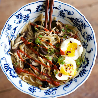 Miso Soup Recipe with Soft-Boiled Eggs.