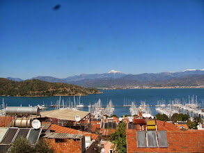 Photo: the marina view from Mert's house