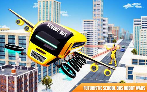 Flying School Bus Robot: Hero Robot Games 12 screenshots 6