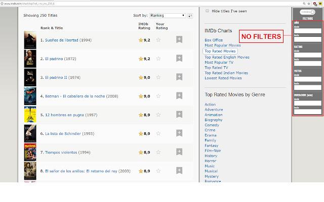 IMDb Filters