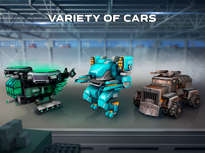Hack Game Blocky Cars - Online Shooting Game apk free