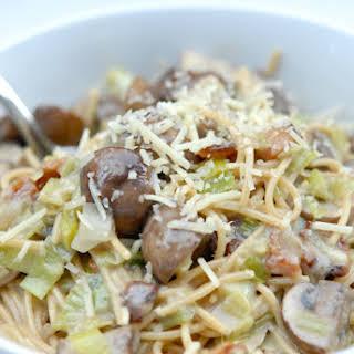 Chicken, Mushroom + Leek Carbonara.