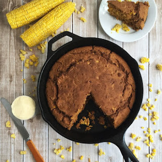 Gluten Free Skillet Cornbread Sweetened with Molasses