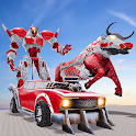 Real Robot Bull Simulator Robot Transform Games icon