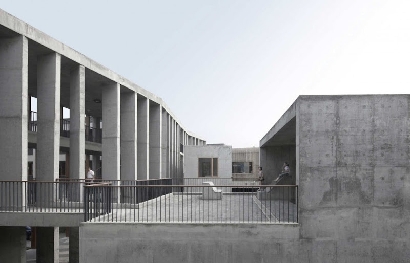Photo: XiaoQuan Elementary School by Trace Architecture Office (CN)  photographer: Yao Li  visit Architonic for more details: www.architonic.com/aisht/xiaoquan-ethnic-elementary-school/5101220