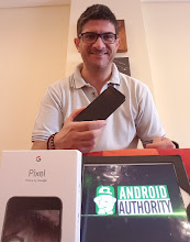 Photo: Sunday giveaway winner Carlos B. showing off his new Pixel XL.