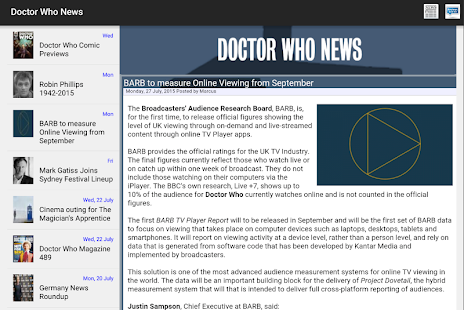 NITAS - Doctor Who News- screenshot thumbnail