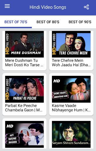 Hindi Video Songs : Best of 70s 80s 90s 1.0.5 screenshots 8