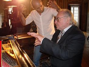 Photo: Miguel Costa e o maestro António Victorino D' Almeida