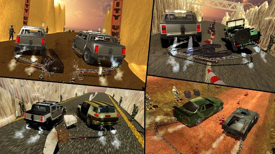 Chained Cars Against Army Trucks Racing Simulator - náhled