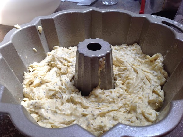 Pour into prepared cake pan and smooth out top then place in preheated 350...