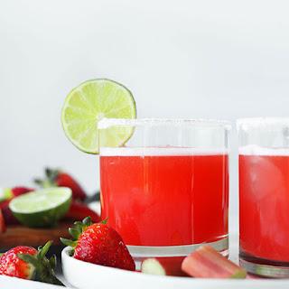 Rhubarb Strawberry Margaritas.
