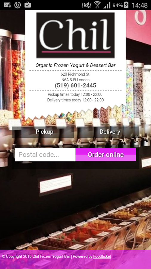 Chil Frozen Yogurt Bar- screenshot