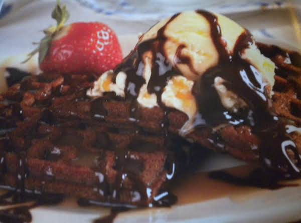 Chocolate Dessert Waffles