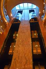 Photo: The atrium elevators