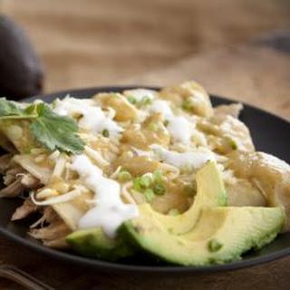 Enchiladas Verdes con Pavo (Green Chile Turkey Enchiladas)