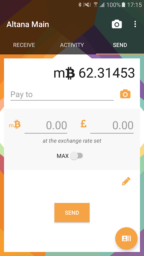 Altana - Bitcoin Wallet- screenshot