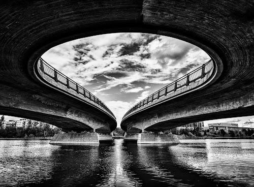 The gate to Lillestrøm by Bjørn Kristiansen - Buildings & Architecture Bridges & Suspended Structures ( water, lillestrøm, circle, bridge )
