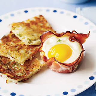 Ham and Egg Breakfast Cups with Hash Browns.
