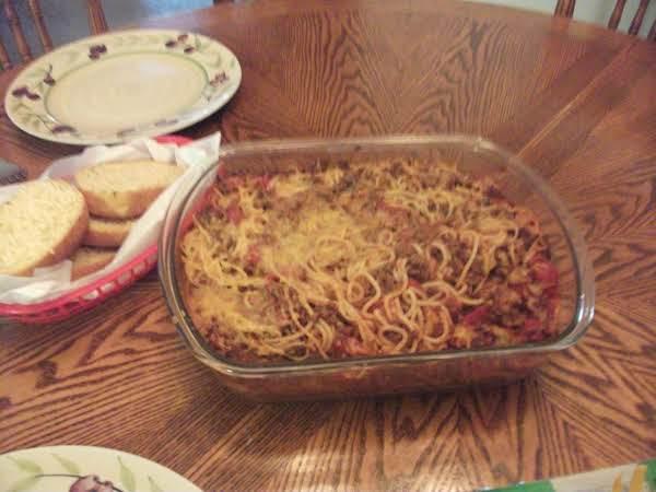 Peggy's Baked Spaghetti Recipe