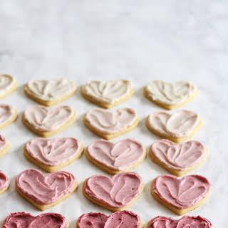 Ombré Raspberry Lemon Sugar Cookies.