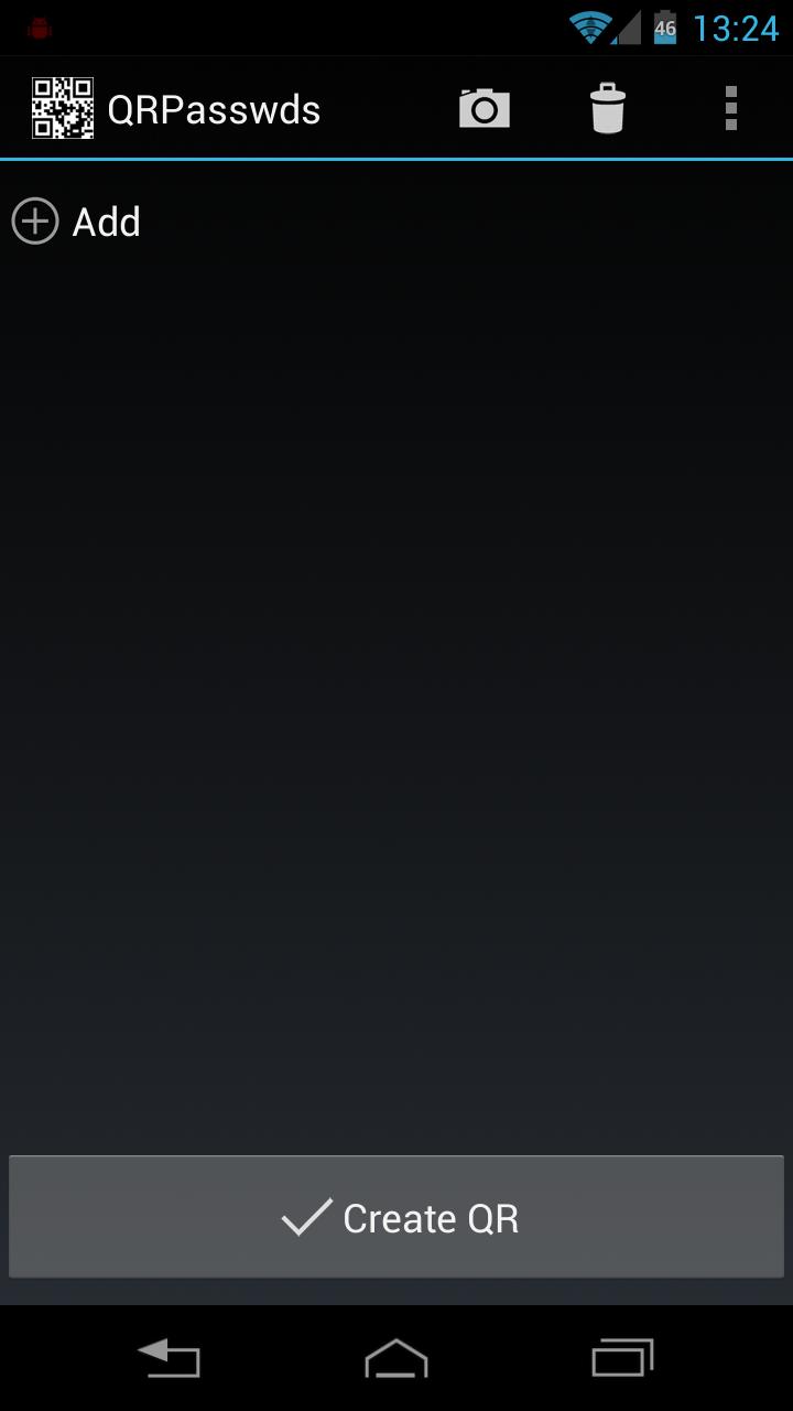 Скриншот QRPasswds