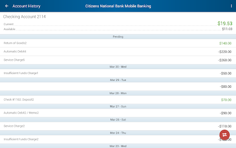 Citizens National Bank Mobile screenshot 11